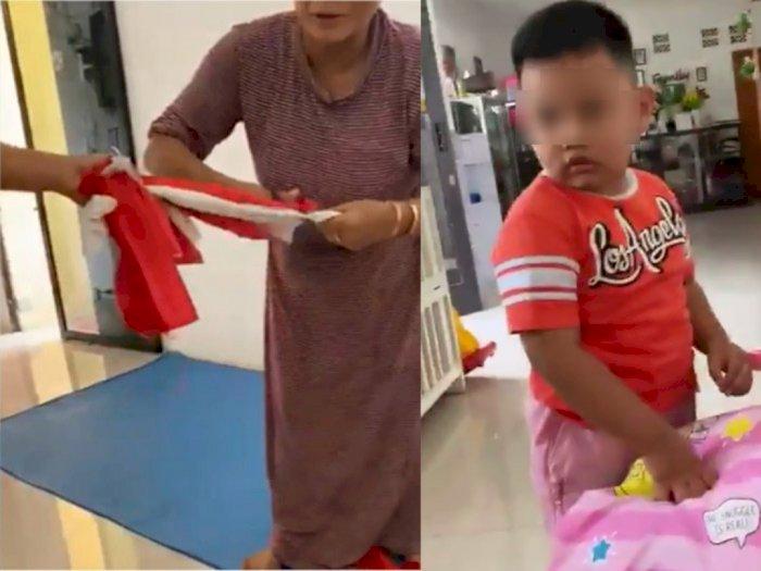 Dinilai Lecehkan Simbol Negara, Ternyata Ini Alasan Emak-emak Gunting Bendera Merah Putih
