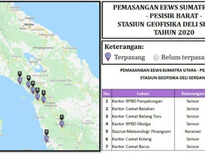Agar Cepat Tanggap, BMKG Pasang Sistem Peringatan Dini Gempa di Pantai Barat Sumut