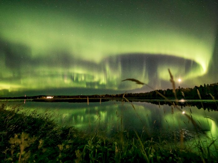 FOTO: Cahaya Utara Menerangi Langit Finlandia di Rovaniemi