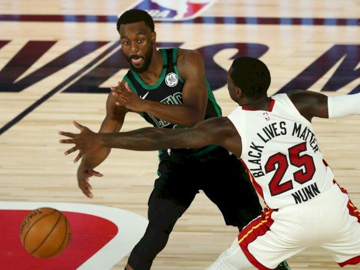 FOTO: Miami Heat Kalahkan Boston Celtics 117-114