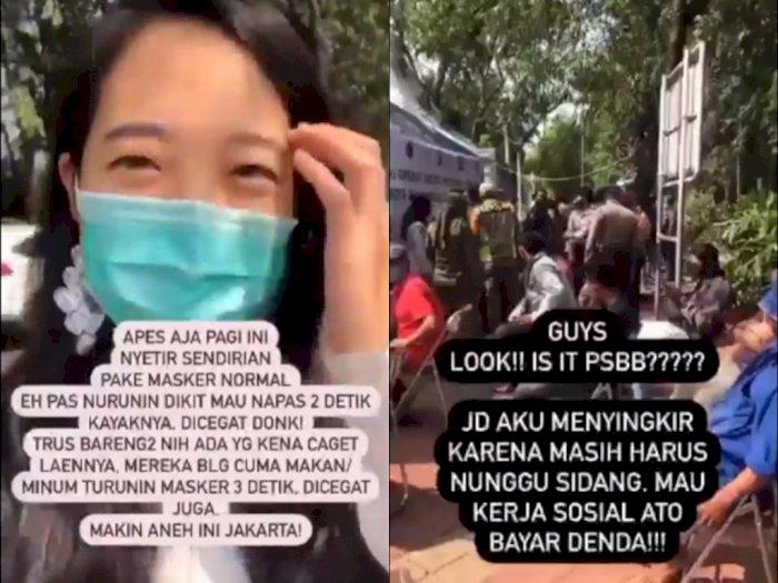 Lagi Sendirian di Mobil, Wanita ini Kena Razia PSBB Karena Turunkan Masker Beberapa Detik