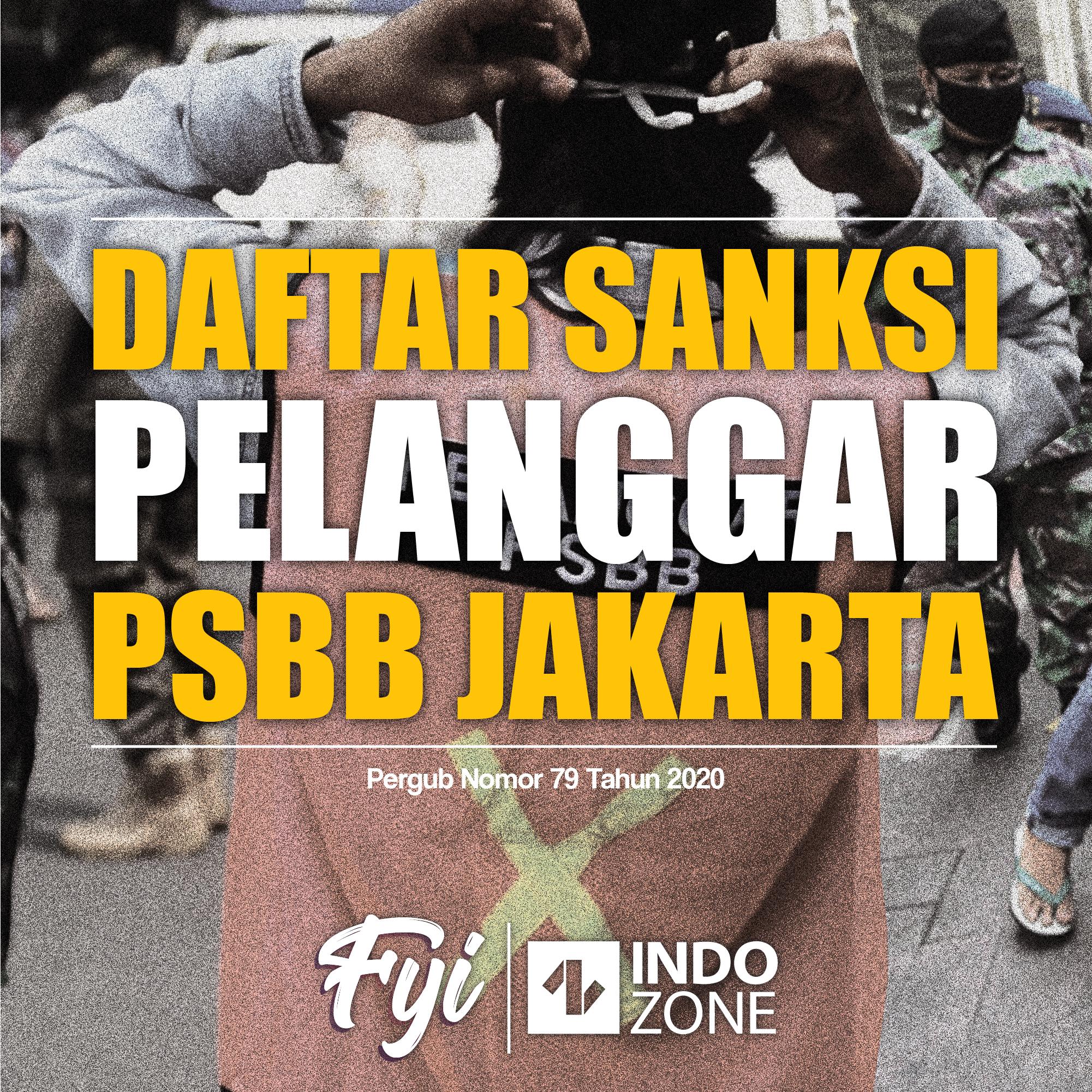 Dafta Sanksi Pelanggar PSBB Jakarta