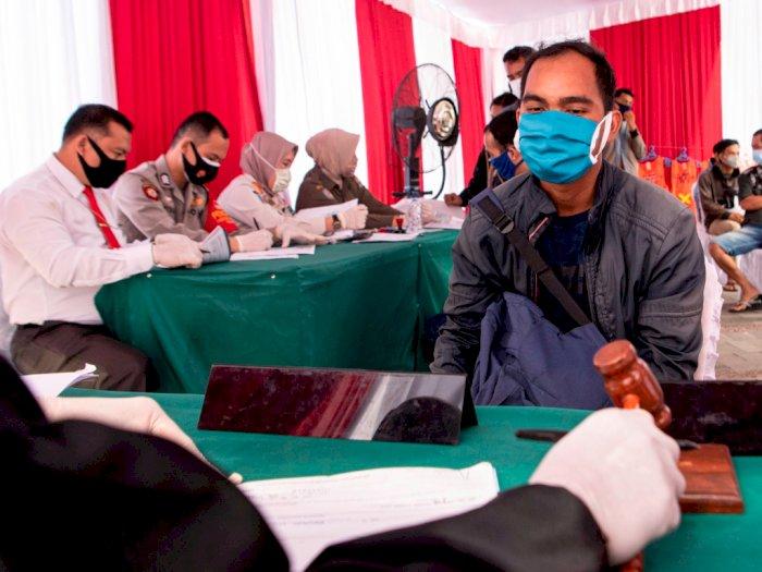 FOTO: Sidang Operasi Yustisi Prokol Kesehatan di Palembang