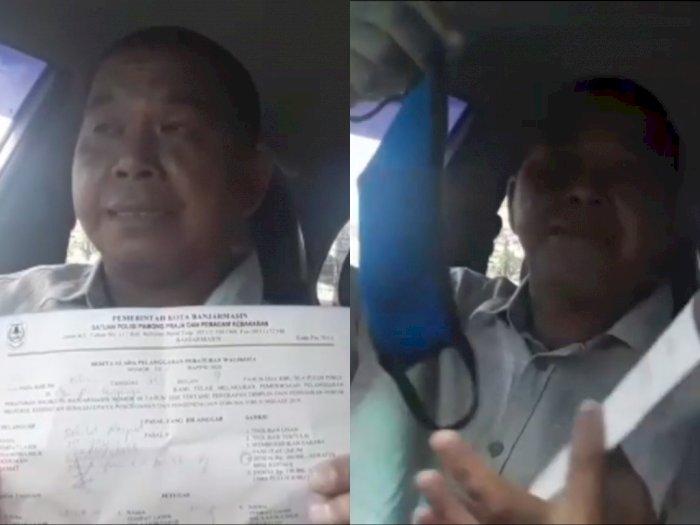 Pria ini Curhat Kena Denda Rp100 Ribu Karena Tak Pakai Masker Padahal Sendirian di Mobil