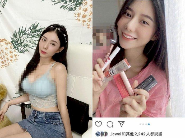 Unggah Foto Endorse Makeup, Selebgram Seksi Ini Tak Sadar Ada Pria Bugil Mengintip