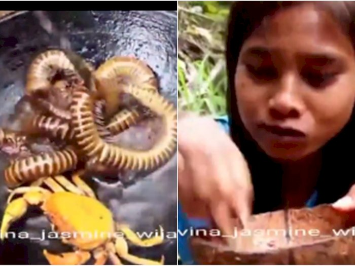 Viral Remaja Sarapan Ulat Kaki Seribu dengan Lahap, Berburu Sendiri di Sungai