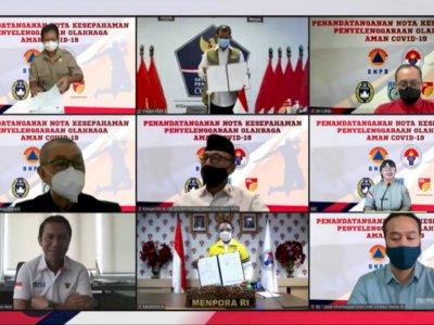 Liga Tetap Berlanjut, PSSI dan IBL Tanda Tangani MoU dengan BNPB