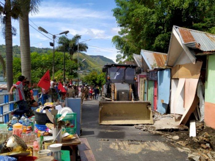 Kawasan Danau Toba Akan Ditata, Ratusan Kios Souvenir di Pagoda Parapat Dibongkar