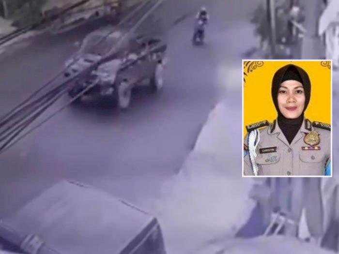 Detik-detik CCTV Bripka Christin Tewas Ditabrak Mobil Wabup Yalimo, Pelaku Mabuk Berat