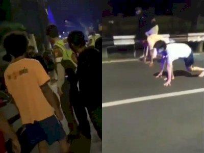 Gokil! Sekelompok Anak Muda ini Balap Lari Sambil Dikawal Polisi, Netizen: Ini Baru Mantap
