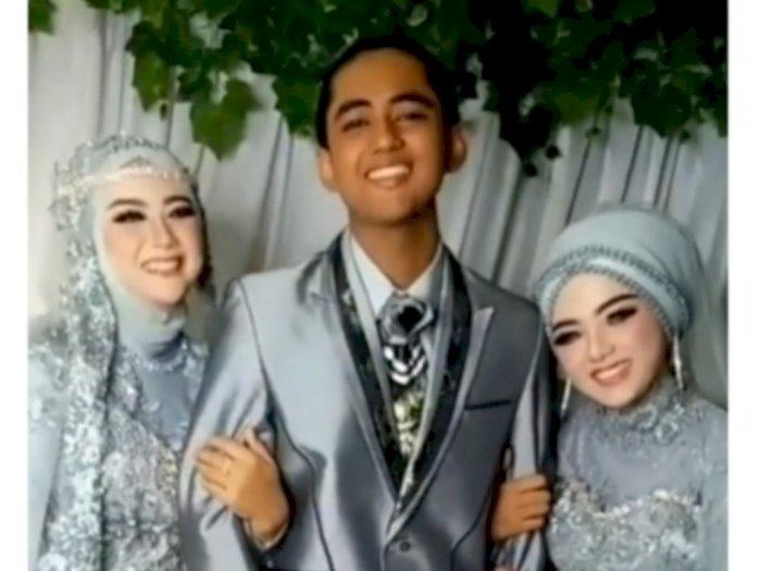 Pria Nikahi 2 Wanita Sekaligus, Netizen Salfok ke Wajah dan Tangan Pengantin Wanita