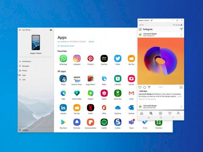 Software Your Phone di Windows 10 Kini Bisa Jalankan Aplikasi Android
