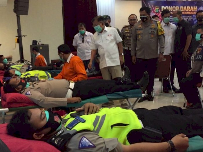 Sokong Pasokan Darah PMI, Ditlantas PMJ Gelar Donor Darah