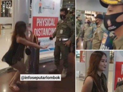 Viral Video Gadis Seksi Pemakai Hotpant Langgar PSBB, Dihukum Squat Jumps Ditonton Petugas