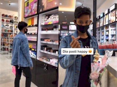 Cowok ini Kasih Buket Isi Skincare Untuk Gebetannya, Netizen: Duh Idaman Banget