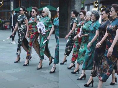 Nenek-nenek ini Jalan-jalan Bak Model dengan Tubuh yang Seksi, Bikin Netizen Insecure
