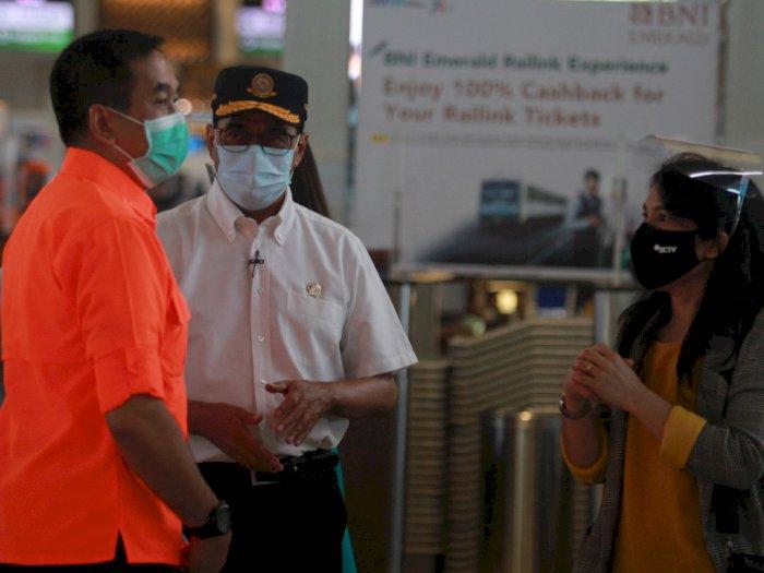 FOTO: Menhub Sidak Penerapan Protokol Kesehatan di Bandara Soetta