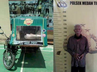 Sedih Kakek Penarik Becak Ditangkap Karena Jadi Juru Tulis Togel, Terancam Penjara 5 Tahun