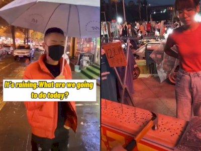 Pria ini Tak Pernah Kalah Saat Main Game di Pasar Malam, Netizen: Auto Diblock ini Orang