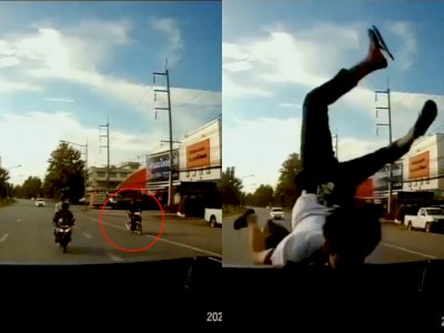 Video Pemuda Tabrak Mobil sampai Salto, Ternyata Akibat Berkendara Sambil Lihat Ini!