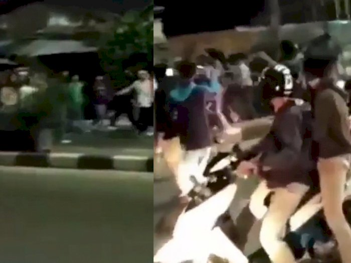 Video Tawuran Remaja di Bekasi Pakai Celurit, Satu Orang Tersungkur, Begini Nasibnya
