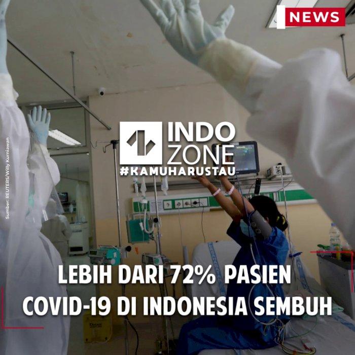 Lebih dari 72% Pasien Covid-19 di Indonesia Sembuh
