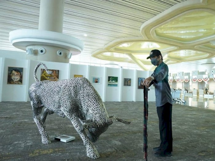 Patung Anjing di Bandara YIA Kulonprogo Diributi Netizen, Dianggap Haram