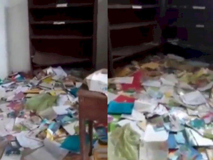 Viral Video Perpustakaan SD di Labuhanbatu Utara Diobrak-abrik, Buku-buku Berserakan