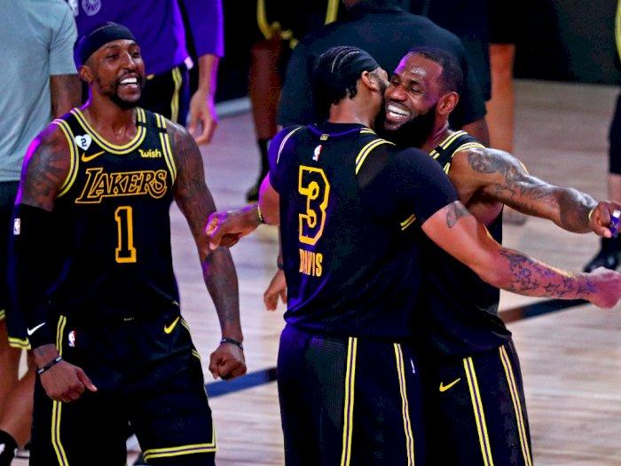 FOTO: Tembakan 3 Angka Anthony Davis Membawa Lakers Kalahkan Nuggets 105-103