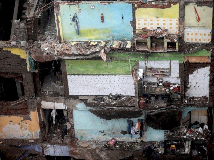 FOTO: 10 Orang Tewas saat Gedung di Bhiwandi India Runtuh