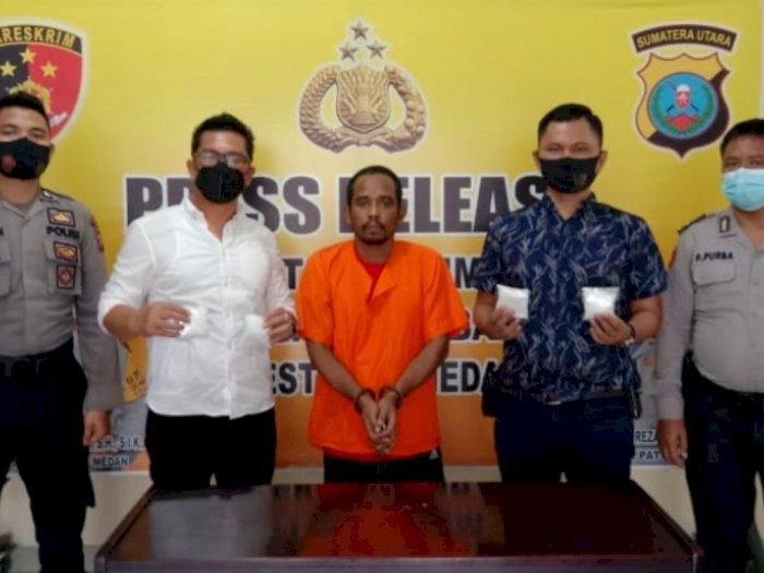 Diiming-iming Rp20 Juta, Pria Aceh Malah Ketangkap Bawa Sabu di Jalan SM Raja Medan