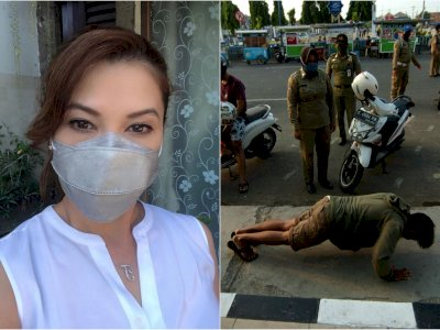 Ini Kata Tamara Bleszynski Tanggapi Hukuman Push Up Bagi Orang yang Tak Pakai Masker