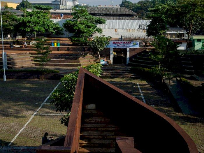 FOTO: Penutupan Taman di Kota Bandung