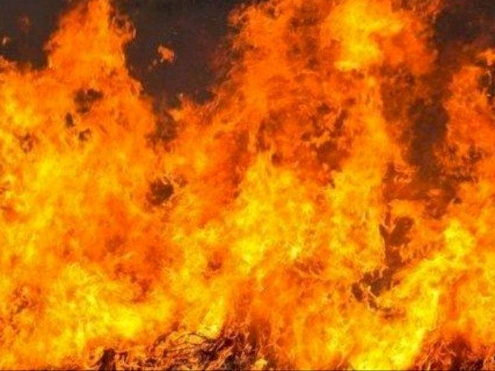 Lima Rumah Terbakar, Warga Desa Jaring Halus Bekerjasama Padamkan Api