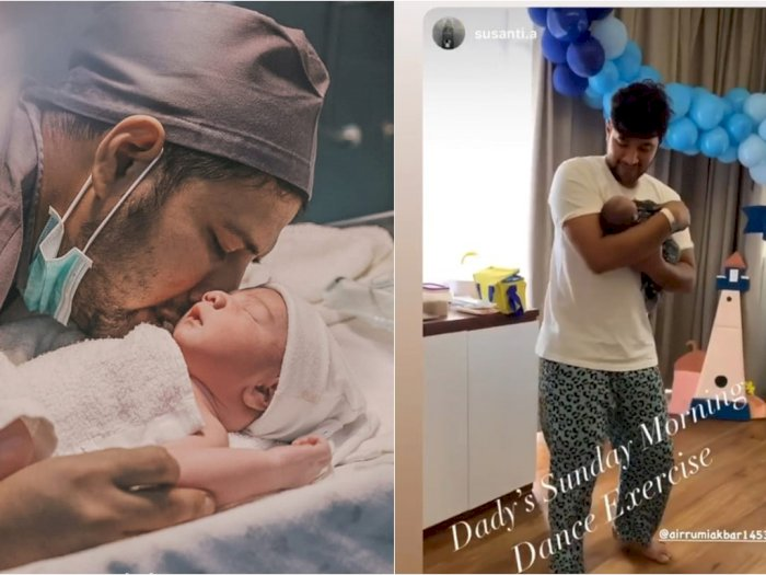 Resmi Jadi Ayah, Ammar Zoni Joget Bareng Anak dengan Wajah Sumringah