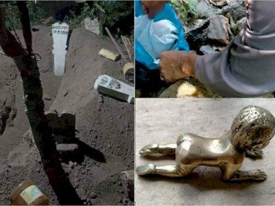 Kain Kafan yang Dicuri di Jombang Ditemukan Bersama Patung 'Nungging', Ritual Ilmu Hitam?
