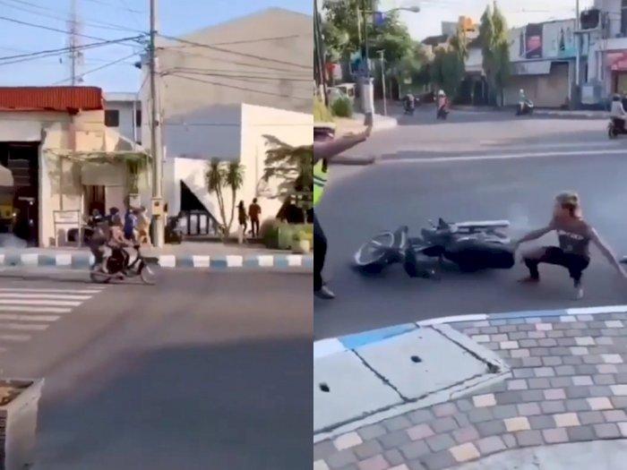 Ugal-ugalan Saat Kendarai Motor di Jalan, Pria ini Malah Terkejut Saat Disetop Polisi