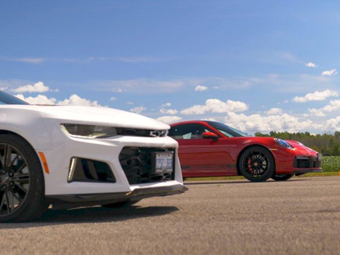 Drag Race Antara Camaro ZL1 dengan Porsche 911 Carrera dengan Hasil Mengejutkan!