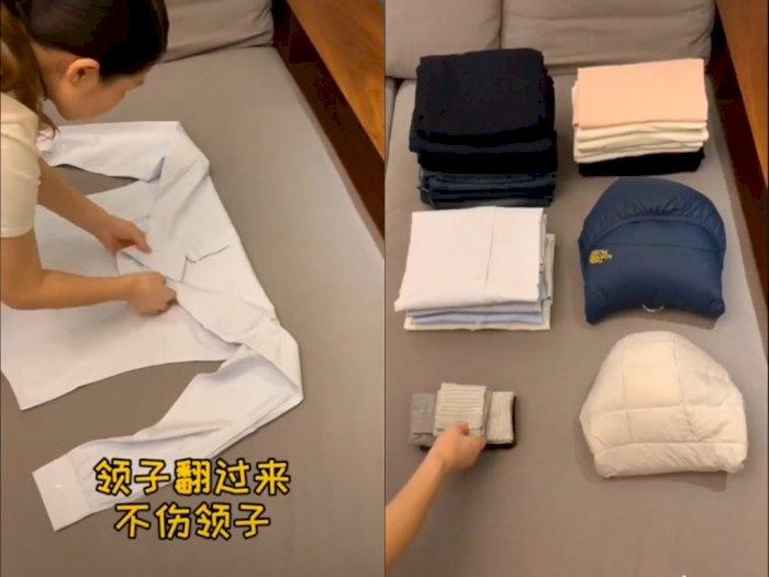 Baru Tahu, Begini Cara Lipat Pakaian Paling Rapi, Apakah Caramu Sudah Benar?