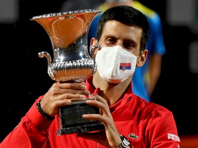 FOTO: Novak Djokovic Memenangkan Italian Open 2020 untuk Kelima Kalinya
