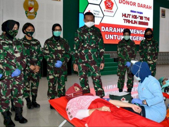 Jelang HUT TNI, Kodam I/BB Adakan Donor Darah bertajuk 'Darahku Mengalir untuk Negeriku'