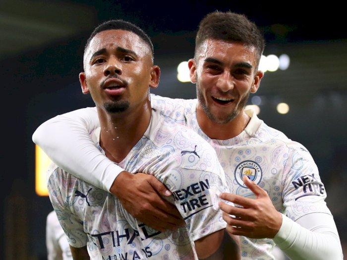 FOTO: Liga Inggris: Manchester City Kalahkan Wolves 3-1