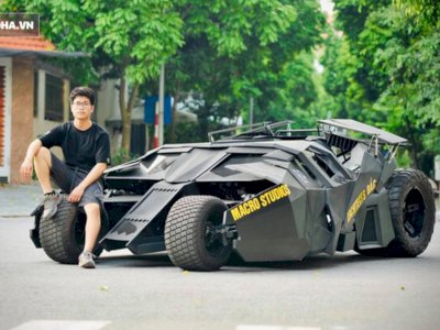 Usai Nonton 'The Dark Knight', Mahasiswa Ini Langsung Bikin Batmobile, Ini Penampakannya