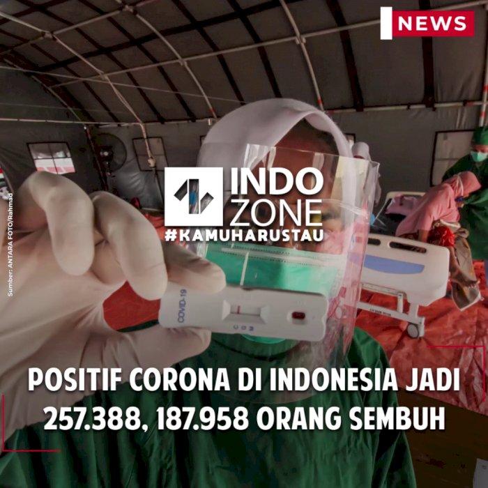 Positif Corona di Indonesia Jadi 257.388, 187.958 Orang Sembuh