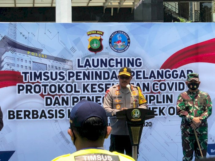Sah! TNI-Polri Gandeng 80 Komunitas Ojol Jabodetabek Awasi Protokol Kesehatan