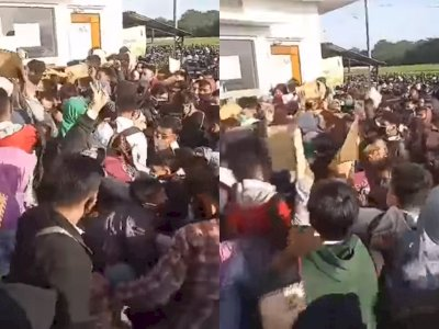 Susahnya Mencari Kerja, Ribuan Pelamar Ngantre di Pabrik Sepatu Sejak Pukul 1 Dinihari