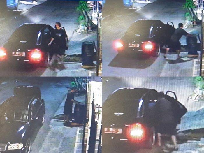 Viral Pengendara Mobil Mewah Terekam CCTV Ambil Tong Sampah Rumah Orang, Netizen Curiga