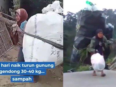 Kisah Mbah Bingah, Tiap Hari Naik Turun Gunung Merbabu Memanggul 30 Kg Sampah para Pendaki