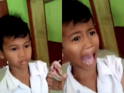 Momen Lucu Saat Bocah ini Pura-pura Tak Sakit Saat Disuntik , Bikin Netizen Ngakak