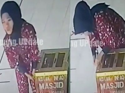 Wanita Berjilbab Curi Uang Kotak Amal, Recehan Pun Diambil Semua, Ini Kata Pengurus Masjid